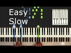 Silent Night - piano tutorial easy slow - how to play Silent Night