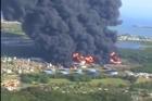 Usine pétrochimique en feu à Puerto Rico